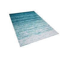 Alfombra en poliéster azul 140x200 cm KATERINI
