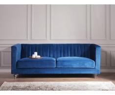 Sofá tapizado 3 plazas azul oscuro ARVIKA