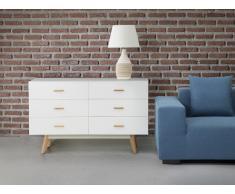 Cómoda en color blanco - Cajonera - mueble de salón - NEWARK