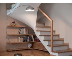 Lámpara de pie - Iluminación moderna - Plateado - KAMA