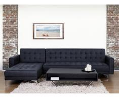 Sofá cama esquinero tapizado en gris grafito ABERDEEN