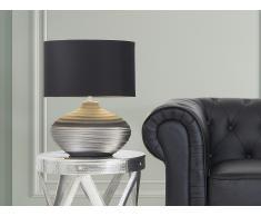 Lámpara de mesa - Pie de cerámica - Color gris - LIMA