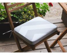 Cojín para silla de jardín FIJI -29x38x5 cm - Gris y beige zigzag