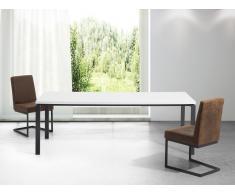 Mesa de comedor - Metal - Blanco y negro - 220cm - ARCTIC II