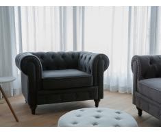 Butaca gris oscuro - Sillón tapizado - CHESTERFIELD