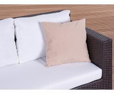 Cojín de jardín - Almohadón para mobiliario de exterior - 40x40 cm caramelo