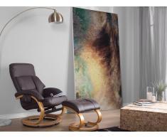 Silla con función de masaje con reposapiés marrón FORCE
