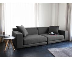 Sofá gris oscuro – Tapizado – 2 plazas – CLOUD