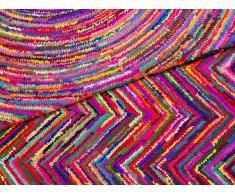 Alfombra de algodón y poliéster - Multicolor - 160 x 230 cm - MALATYA
