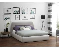 Cama tapizada en color gris claro 160x200 cm LIFFRE