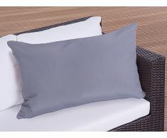 Cojín de jardín - Almohadón para mobiliario de exterior - 50x70 cm gris