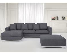Sofá equinero tapizado gris, versión derecha OSLO