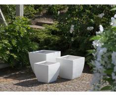 Maceta blanca cuadrada 39x39x38 cm ORICOS