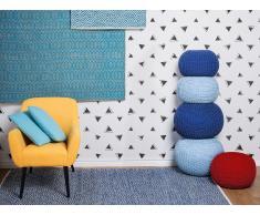 Alfombra de algodón - Azul y Beige - 160x230 cm - SILOPI