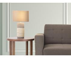 Lámpara de mesa - Pie de cerámica - Color marrón - NAVIA