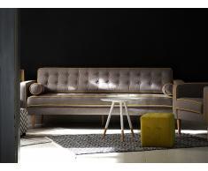 Sofá tapizado - Gris claro - Canapé - FLAM