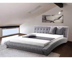 Moderna cama - Cama tapizada - 160x200cm - Color gris - LILLE