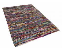 Alfombra de algodón - multicolor - 140x200 cm - Hecha a mano - ENEZ
