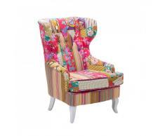 Butaca tapizada - Diseño de patchwork - MOLDE