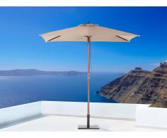 Sombrilla de jardín - Color beige arena - Madera - 144x195 cm - FLAMENCO