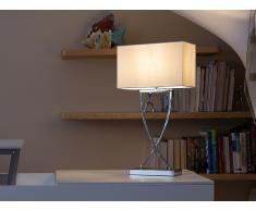 Lámpara de mesa - Iluminación de noche - Metal - Blanco - YASUNI