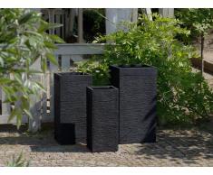 Maceta cuadrada negra 40x40x77 cm DION