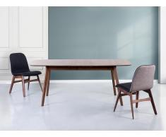Mesa de comedor – Madera de caucho – Extensible - - 150-190x90 cm – MADOX