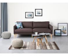 Sofá tapizado - Patas de madera - Chocolate - UPPSALA