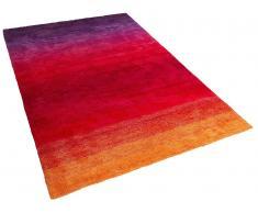 Alfombra violeta-roja - 160 x 230 cm - Shaggy - DINAR