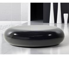 Mesa de centro - Fibra de vidrio - Auxiliar - Negra - PELION