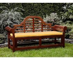 Banco de jardín con colchón patrón geométrico amarillo 180 cm TOSCANA MARLBORO