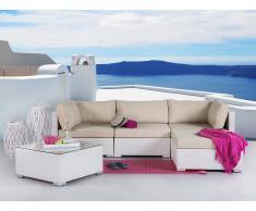 Sofá de ratán blanco - conjunto de jardín – mesa de café – SANO