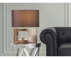 Lámpara de mesa - Pie de cerámica - Color marrón - DUERO