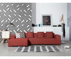Sofá esquinero - Sofá Tapizado - Chaise longue derecho - Rojo - LUNGO