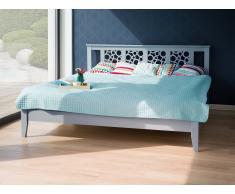 Cama de madera gris - 180x200 cm - CAEN