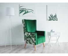 Sillón tapizado con estampado de selva ONEIDA
