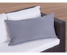 Cojín de jardín - Almohadón para mobiliario de exterior - 40x70 cm gris