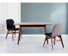 Mesa de comedor - Madera de caucho - Extensible - - 120-150x90 cm - MADOX