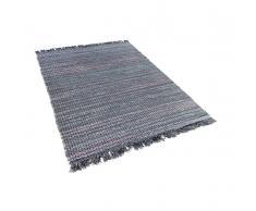 Alfombra de algodón - Tonos Grises - 140x200 cm - Hecha a mano - BESNI