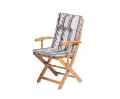 Cojín para silla JAVA/MAUI rayas multicolor