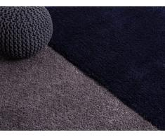 Alfombra shaggy - azul oscuro - 80x150 cm - poliester - EDIRNE