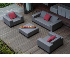 Conjunto de jardín gris - 4 piezas - ROVIGO