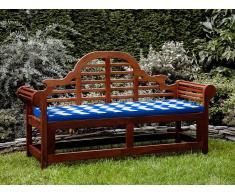 Banco de jardín con colchón zigzag blanco azul 180 cm TOSCANA MARLBORO