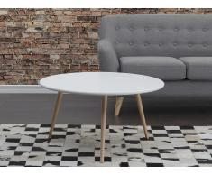Mesa auxiliar – Mesa de café – Blanco - TENNESSEE