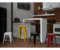 Taburete de bar - Silla - Metal - Rojo - 46 cm - CABRILLO