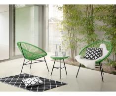 Conjunto de jardín - Mesa - 2 sillas - Verde - ACAPULCO