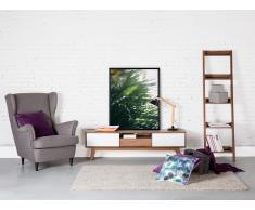 Cómoda - Mueble TV - Mueble de salón en MDF - nogal y blanco - EERIE