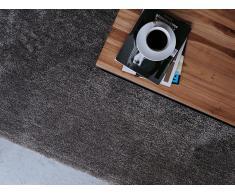 Alfombra shaggy en color gris oscuro 160x200 cm DEMRE