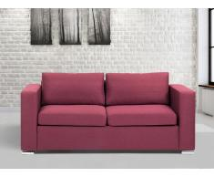 Sofá color borgoña - sofá tapizado - 3 plazas - HELSINKI