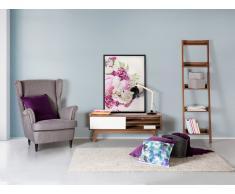 Cómoda - Mueble TV - Mueble de salón en MDF - nogal y blanco - BUFFALO